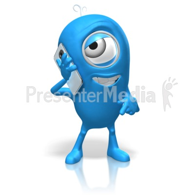 Character Talking Cell Phone Presentation clipart