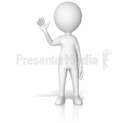 Figure Waving Gesture Pose Presentation clipart
