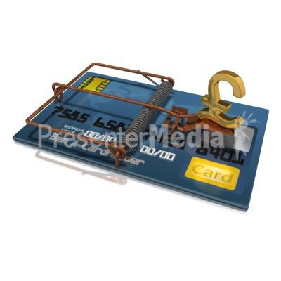 Credit Card Trap Pound Presentation clipart