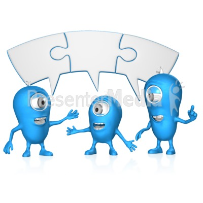 Joined Puzzle bubble Group Coversation Presentation clipart