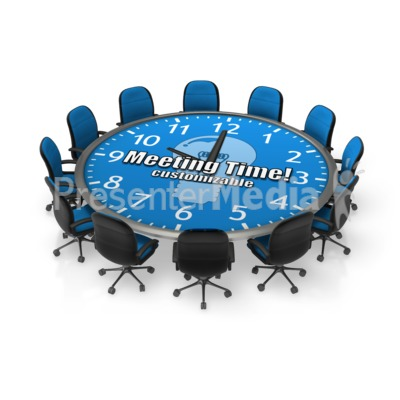Round Meeting Table Custom Presentation clipart