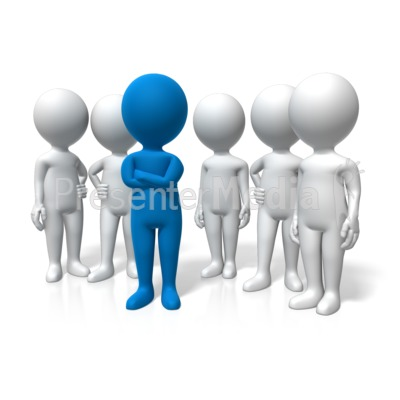 Leader Standing Out Presentation clipart
