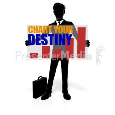 Business Man Silhouette Custom Presentation clipart