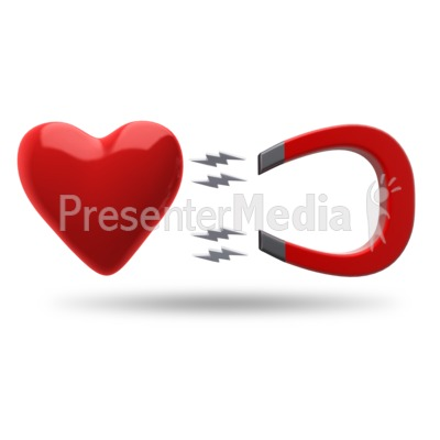 Heart Magnet Attract Presentation clipart