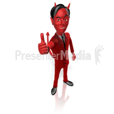 Devil Thumbs Up Presentation clipart