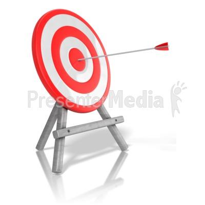 Arrow Target Bullseye Presentation clipart