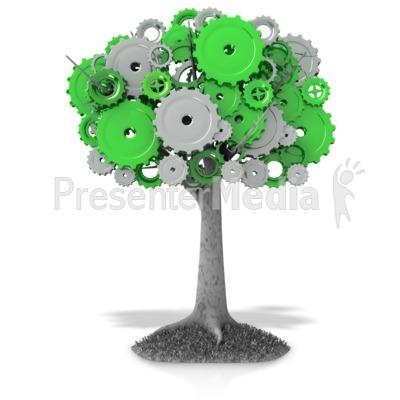 Gear Tree Presentation clipart