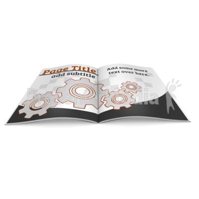 Magazine/Booklet Custom Open Presentation clipart