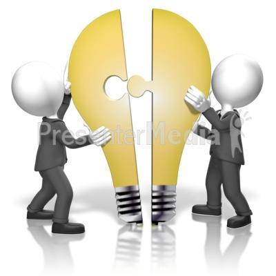 Businessmen Merge Idea Presentation clipart
