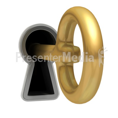 Key Hanging Out Keyhole Presentation clipart