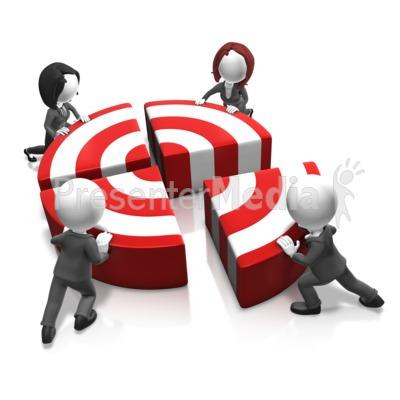 Push The Bullseye Presentation clipart
