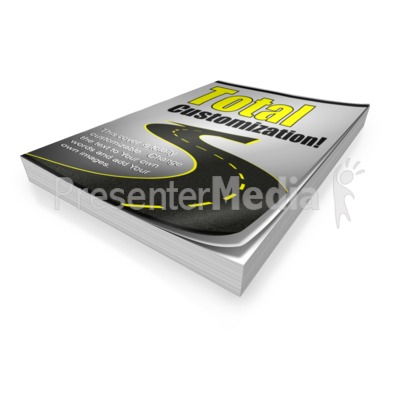 Single Custom Paperback Book Presentation clipart