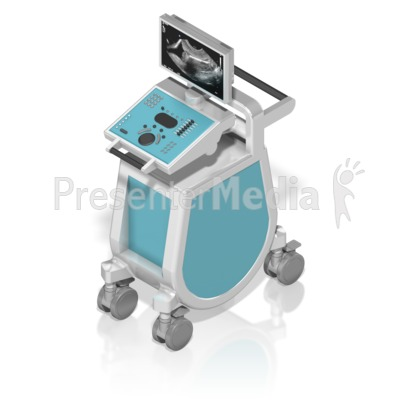 Ultrasound Machine Isometric Presentation clipart
