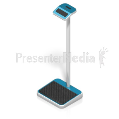 Digital Weight Scale Isometric Presentation clipart