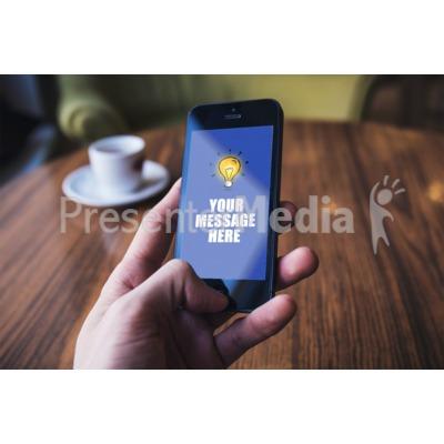 Phone Hand Background Presentation clipart
