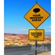 Desert Road Sign Presentation Clipart