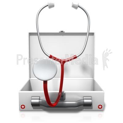 Medical Case Stethoscope Presentation clipart