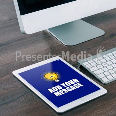 Tablet Desk Presentation clipart