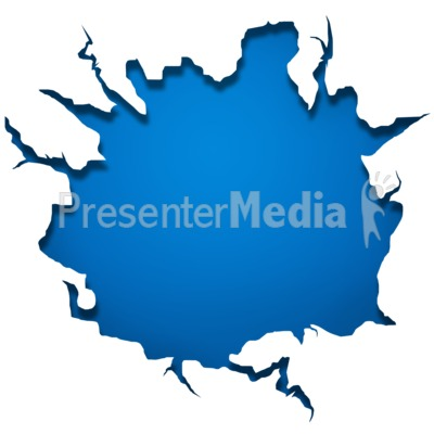 Crack Wall Plate Presentation clipart