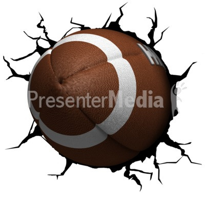 Crack Wall Football Presentation clipart