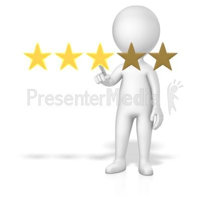 Figure 3 Of 5 Stars Presentation clipart