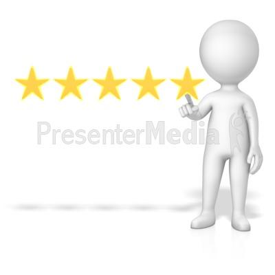 Figure 5 Of 5 Stars Presentation clipart