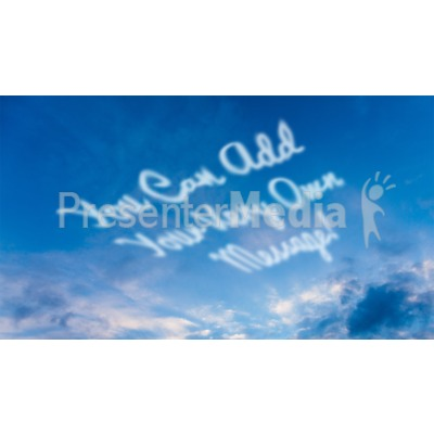 Skywriting Presentation clipart