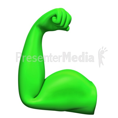 Flexing Bicep Muscle Presentation clipart
