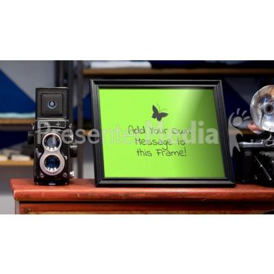 Camera And Frame Presentation clipart