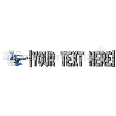 Break Text Karate Kick Presentation clipart