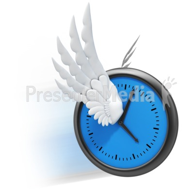 Time Flies Wings Presentation clipart
