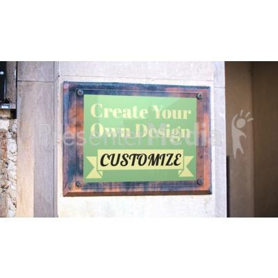 Bronze Wall Plaque Custom Presentation clipart