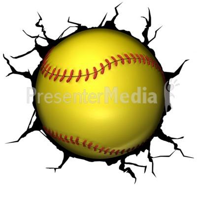 Softball Break Through Presentation clipart