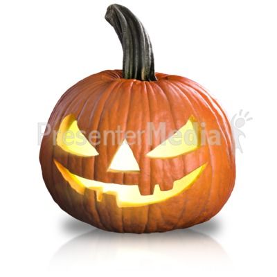 Scary Pumpkin Fun Presentation clipart