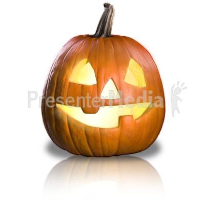 Friendly Pumpkin Fun Presentation clipart