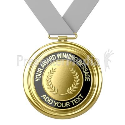 Gold Medal Custom Presentation clipart