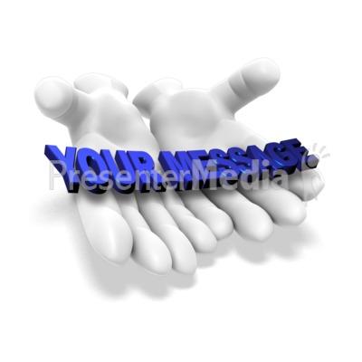 Open Hands Word Presentation clipart