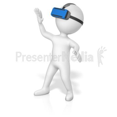 Figure Vr Goggles Presentation clipart