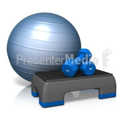 Exercise Cardio Equipment Presentation clipart