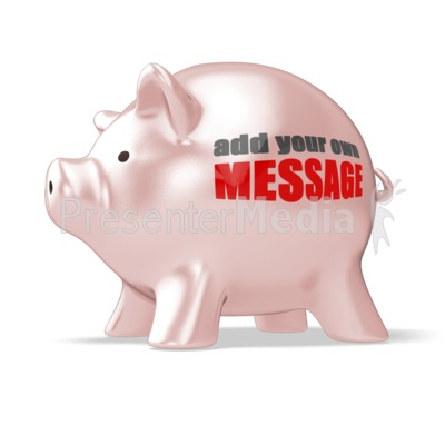 Piggy Bank Custom Presentation clipart