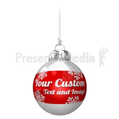 Custom Ornament On String Presentation clipart