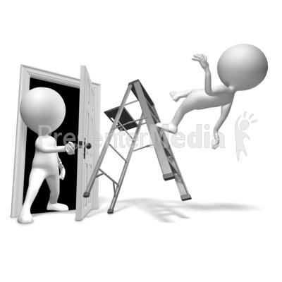 Walk Through Door Accident Presentation clipart
