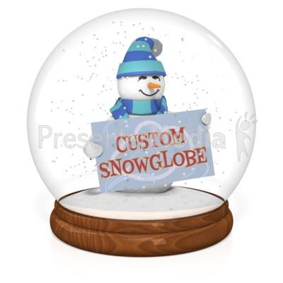 Snowglobe Custom Presentation clipart