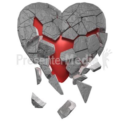 Breaking Heart Of Stone Presentation clipart