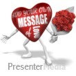 Heart Custom Holding Flowers Presentation Clipart