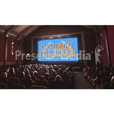 Movie Theater Custom Presentation clipart