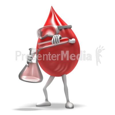 Blood Drop Scientist Presentation clipart