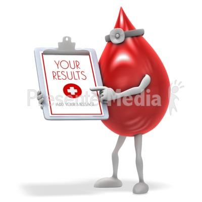 Blood Drop Results Presentation clipart