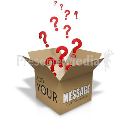Question Box Custom Presentation clipart