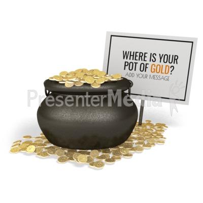 Pot Of Gold Sign Presentation clipart